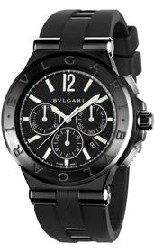 Bulgari Uhr in schwarz